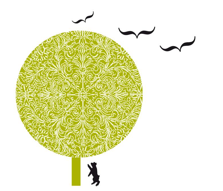 mis i drzewo